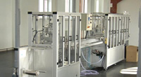 Semi-automatic blister packaging machine for the medical industry